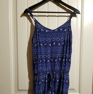 Size L Old Navy Blue & White Floral Romper